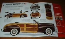 ★★1946 MERCURY SPORTSMAN ORIGINAL IMP BROCHURE INFO 46 239 WOODY CONVERTIBLE★★