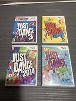 4 Just Dance Games All Complete Nintendo Wii Lot Bundle Tested Game Lot Bundle