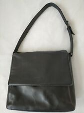 Vintage Rare agnes b voyage France Black Leather Shoulder Bag, Good Condition