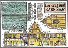 Postcard Model Building  'N' gauge model   Cake Shop