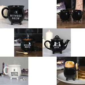 Witches Brew Cauldron Coffee Tea Mug Soup Bowl Egg Cup Salt & Pepper Pot Teapot