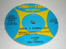 """Jackie /The Cedrics 7"""" ONE PLUS TWO RECORDS SET OF 2 - 7"""""""