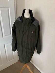Men's Khaki Green Berghaus Cornice Goretex Waterproof Jacket Size Large