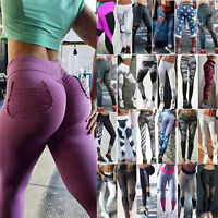 Women Yoga Floral Skinny Pants Gym Workout Fitness Clothe Tights Sport Wear New