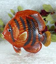 Wandfigur Fisch Porzellan Keramik Figur Skulptur Wanddeko Wandhänger Wandbild
