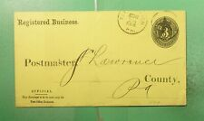 PITTSBURGH PA FANCY CANCEL STAR PO DEPT OFFICIAL STATIONERY #U07
