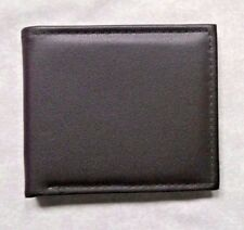 FAUX LEATHER VINTAGE CLASSIC MENS WALLET BI-FOLD CARDS NOTES DARK BROWN 1990s