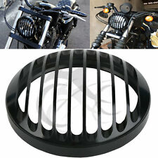 """5 3/4"""" CNC Headlight Grill Cover For Harley Sportster XL 883 1200 2004-2014"""