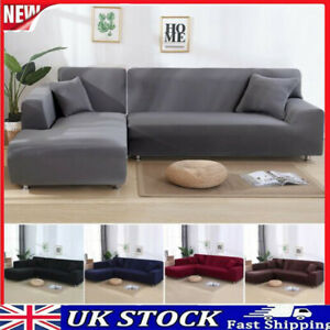 Stretch Sofa Slipcover  For L Shape Couch Sofa Corner  Sectional Cover Protector