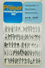 HO SCALE PREISER #16326 120 UNPAINTED WORKERS. FACTORY SEALED BOX