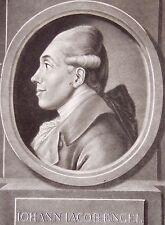 JOHAN ELIAS HAID (1739-1809): Portrait de JOHANN JAKOB ENGEL (1741-1802).