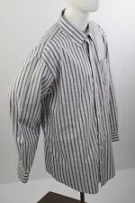 DENVER HAYES Men's Long Sleeve Sz 2XL Shirt  Never Iron 18 1/2 Vertical Stripes