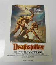 1983 DEATHSTALKER Rick Hill, Barbi Benton MOVIE PROMO 9x12 FN Boris Vallejo