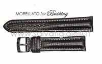 cinturino marrone scuro MORELLATO for BREITLING dark brown strap 18mm (TOP)