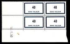 FRANCE TIMBRE FICTIF  F89 ** MNH, coin daté 18.1.50, TB