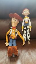 DISNEY PIXAR TOY STORY TALKING WOODY COMPLETE WITH HAT & JESSIE DOLL £19.99