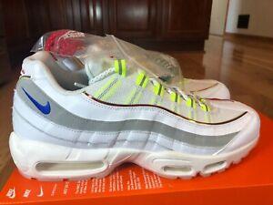 Nike Air Max 95 PRM De Lo Mio White Blue Grey CW6579 100 Men's Size 12 - B GRADE