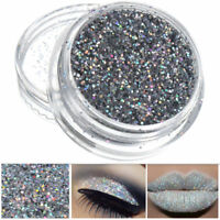 3g Sparkly Makeup Glitter SilverLoose Powder EyeShadow  Eye Shadow Pigment 0.2MM