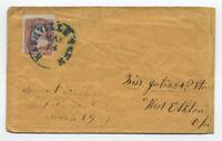 1860s Nashville TN missent West Florence Ohio manuscript #65 cover [4919.33]