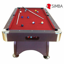 7 Ft red Pool Table Billiard Sports Game billiards table Playing Cloth Indoor