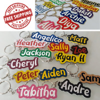 SCHOOL BAG NAME TAG - PERSONALISED - ANY SPELLING - Made to Order - FREE POST