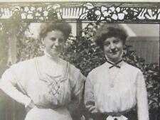1908 REAL PHOTO POSTCARD ANNA HOFFMANN  CHICAGO 932 WOLFRAM ST  & BERTHA
