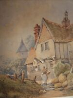 Abraham Hulk Jnr? Combe Martin North Devon Antique Watercolour Painting, signed