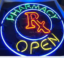 "New Pharmacy Open Shop Welcome Real Glass Beer Bar Neon Light sign 24""x24"""