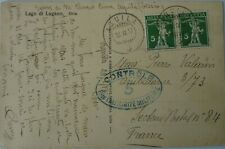 Switzerland Censored Mail to France: 1917, 18 & 19 3x Postcards + Envelope.