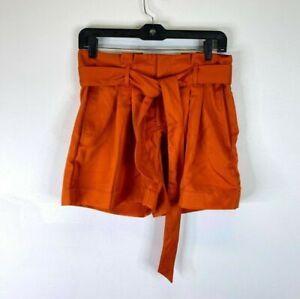 Ann Taylor Women's Orange High-Rise belt short SZ 14