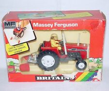 Britains Ltd 1:32 MASSEY FERGUSON MF 595 ROLL-BAR TRACTOR + SCRAPER MIB`86 RARE!