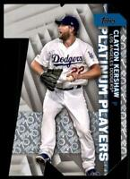 2021 Series 1 Platinum Players Die Cut Platinum #PDC-9 Clayton Kershaw /70