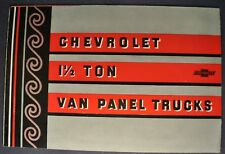 1933 Chevrolet 1.5-Ton Panel Box Van Truck Brochure Excellent Original 33