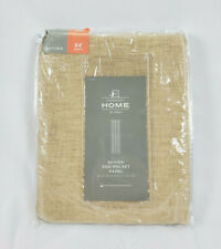 "JCPenney Home Linen Bayview Sheer Rod-pocket Curtain Panel, 50""x84"""