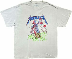 New Men's Metallica Urban Outfitters And Justice for All Vintage Retro T-Shirt