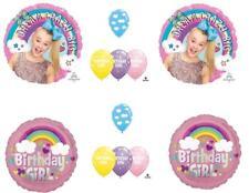 12 PC JOJO SIWA Happy Birthday Balloons CLOUDS sky Rainbow Free Ship
