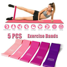 5X Elastic Yoga Band Rubbers Workout Gym Crossfit Resistance Fitness Excercise