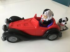 FISHER PRICE LITTLE PEOPLE DISNEY 101 DALMATIANS CRUELLA DEVILLE CAR