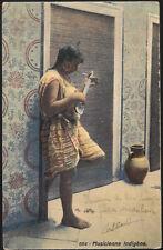 AK - LEHNERT & LANDROCK - Nr. 664 - Musicienne indigène - HAREM - MAGHREB - Afr