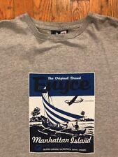 1998 Enyce Manhattan Island T-Shirt (Size XL) Grey Blue Used
