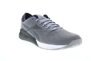 Reebok Nano 9 FU6827 Mens Gray Mesh Lace Up Athletic Cross Training Shoes