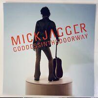 "Mick Jagger (Rolling Stones) - Goddess... album flat PROMO poster 12x12"" 2001"