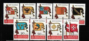 s35057 SMOM 1967 MNH** Bandiere Flags 9v