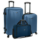 US Traveler 3pc Hytop Large & Carry-on Spinner Luggage & Boarding Tote Bag Set