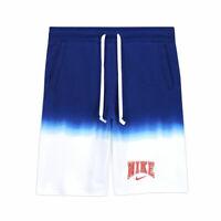 Nike Men's Sportswear Americana French Terry Shorts Blue White CZ8979-100