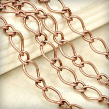 HOT!!!Wholesale DIY Fashion Curb Unfinished Chain 4/6/10m Fit bracelet Necklace