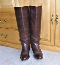 FRYE Women's Dorado 77568 Tall Dark Brown Leather Riding Boots 11M, List $458
