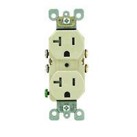 Leviton  20 amps 125 volt Ivory  Outlet  5-20R  1 pk