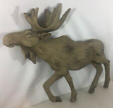 Large Faux Wood Moose - Moose Wall Decor - Log Cabin Lodge Wall Decor - NEW