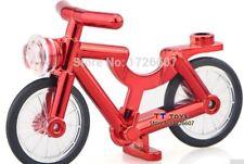 Custom Chrome Rouge Plaqué vélo pour lego minifigures NEUF